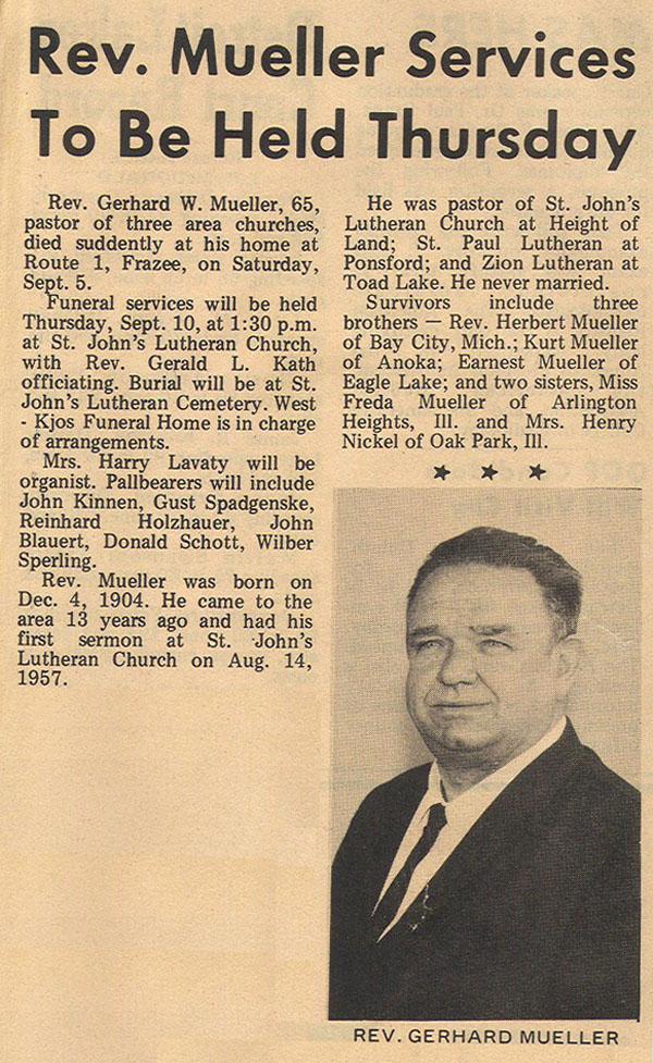 Gerhard's obituary
